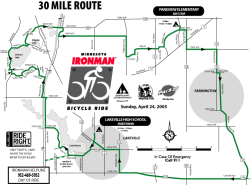 Picture of 30-mile Ironman Ride Route