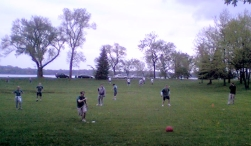 Early Kickball Game Photo